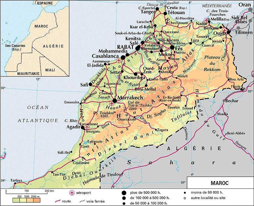 carte berbere maroc