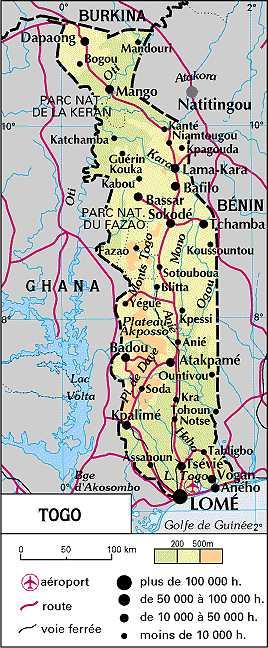 Cartes d'Afrique francophone, carte du Maghreb (Niger, Togo, Tchad